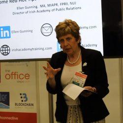 Ellen speaking at the Sales & Marketing Summit